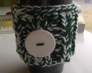 Knitted Cup Cozy in Green