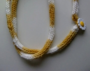 Knitted I-cord Necklace Daisy