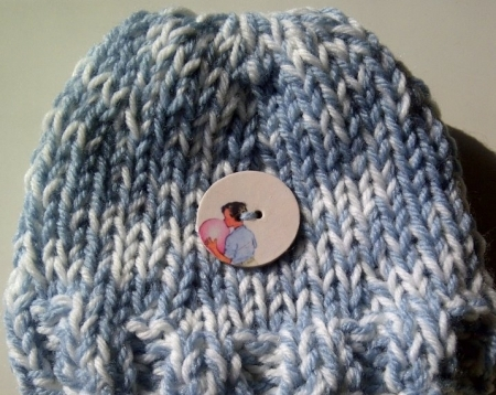 Knit Dick and Jane Hats