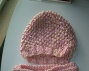 Womens Pink and Cream Set