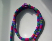 Knitted i-cord Flip Flop Necklace