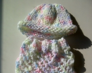 Knit Baby Cocoon in Bright Baby Yarns