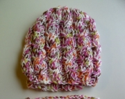 Womens Spring Satin Hat and Cowl Set