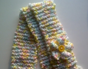 Knit Spring Ribbon Scarf