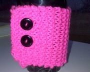 Knitted Cup Cozy in Pink