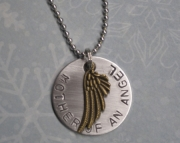 Metal Stamped Pregnancy Infant Child Loss Memorial Necklace MOTHER OF ANGELS