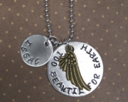 Custom Metal Stamped Pregnancy Infant Child Loss Memorial Necklace
