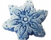 Snowflake glycerin soap