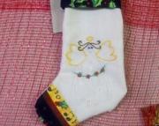 Primitive stocking w/angel