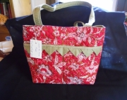 Sweet red & green floral purse