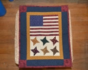 Rustic flag mini quilt