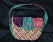 Vintage style Handbag w/tapestry