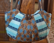 Winter argyle purse