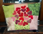 Scattered hearts toiletries bag