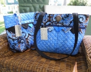 Sweet blue & black purse