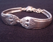 Mother's Day Gift Custom Made Silver Spoon Bracelet
