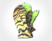 Vibrant Tiger Fleece Mittens