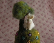 Custom Needle Felted Pin Cushion - Animal on a Hill
