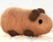 Made to Order - Needle Felted Guinea Pig and Hand-Painted Box
