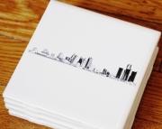 Detroit Skyline Ceramic Coaster Set
