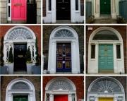 Collage Print of Georgian Door in Ireland