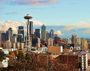 Seattle Skyline wall art decor print on archival matte paper 8x10