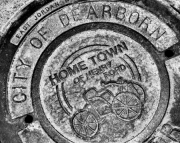 Photography Print of Dearborn Manhole Cover Honoring Henry Ford