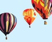 Vintage Hot Air Balloon Print 8x10
