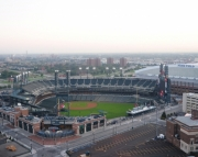 Aerial Photography of Comerica Park, Detroit, Michigan, Detroit Tigers Baseball 8x10 print