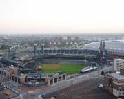 Aerial Photography of Comerica Park, Detroit, Michigan, Detroit Tigers Baseball 8x10 print
