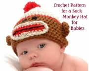Sock Monkey Hat Pdf Crochet Pattern for Babies