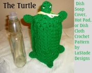 Turtle Dish Soap Cover Hot Pad Crochet Pattern
