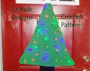 Christmas Tree Door Decoration Crochet Pattern