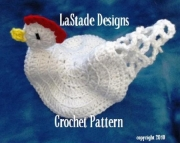 Chicken Pot Holder PDF Crochet Pattern