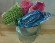 Blooming Flowers Washcloth 100% pure cotton love