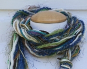 Pixie Scarf 6: Blue Green Cream Brown Nature's Bounty
