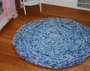 Ocean in the Round: Waves of Blue to Brighten Your Horizon 3ft Circle Rug