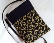 Golden Swirl Crossbody Kindle Bag
