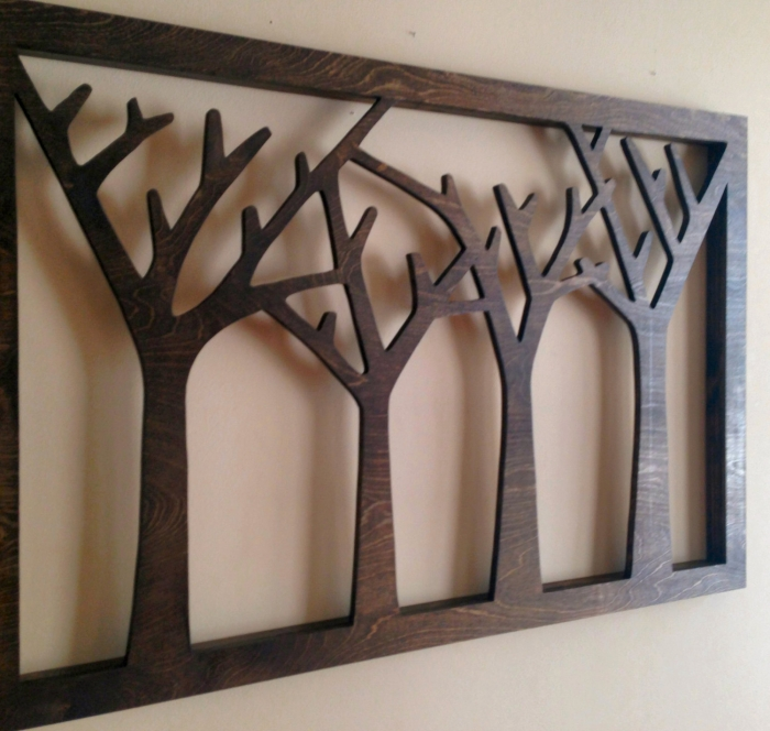 Merveilleux Trees Forest Wood Wall Decor Art Rustic Home