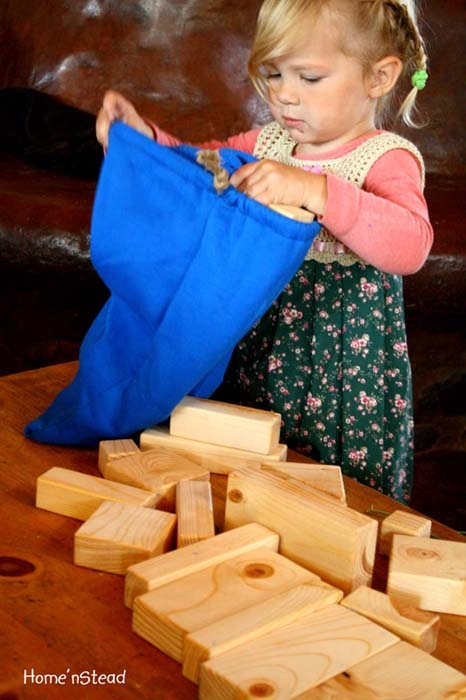 Building Block Set Kids Natural Toys Wooden 28 Piece Set