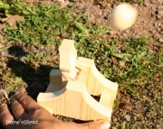 Boys Catapult Launcher And Castles Natural Wooden Game Eco