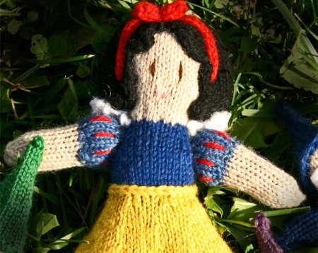 Knitting Patterns For Disney Toys : Snow White Princess Doll Knitted Disney Inspired Natural Wool Waldorf Girls T...