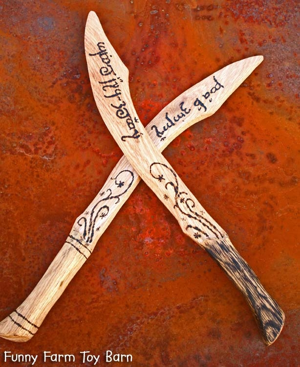 Boys Wooden Aragorn Dagger Lord Of The Rings Wooden Sword
