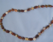 25 inch rainbow jasper necklace