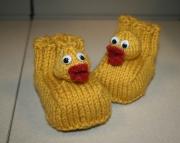 Rubber Duckie Booties Knitting Pattern