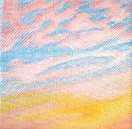 Pink Sunset 6x6