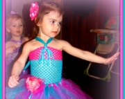Pink and Teal Tutu Dress