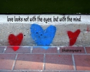 Grafitti Hearts Print-shakespeare