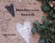 Grafitti Hearts Print-gandhi