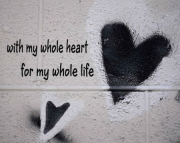 Grafitti Hearts Print-Whole Heart